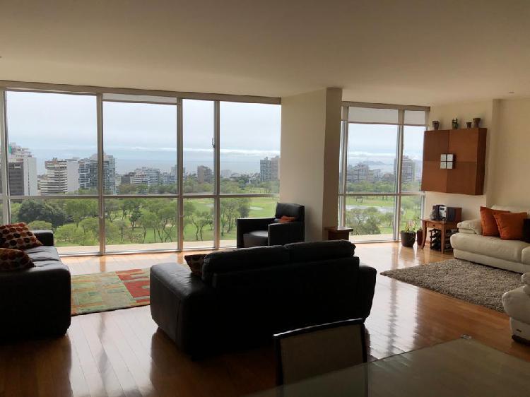 Ocasión exclusivo flat vista al golf san isidro 214 m²
