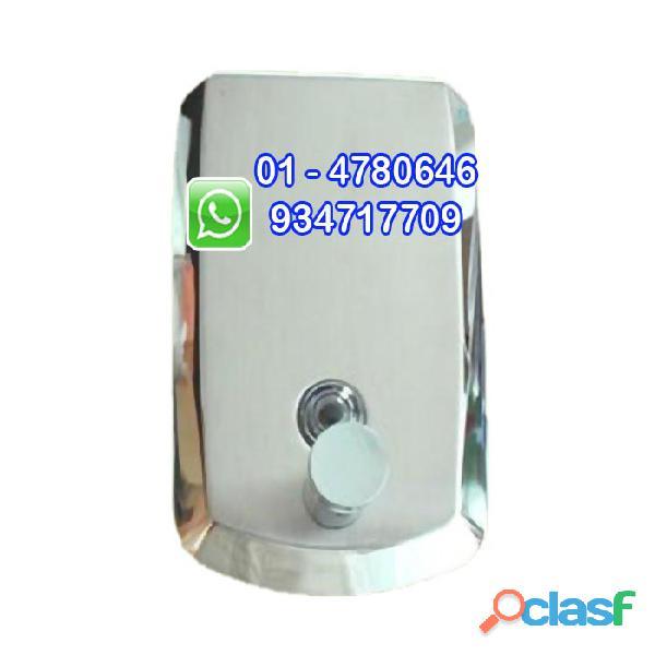 Dispensador para jabon liquido en acero inoxidable 1 litro