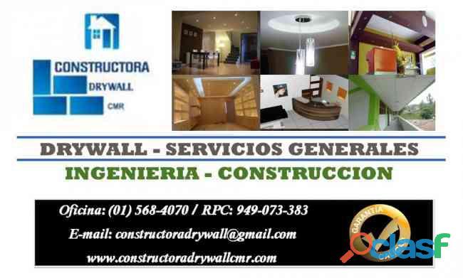 Expertos en departamentos en sistema drywall lleve en mano 949073383
