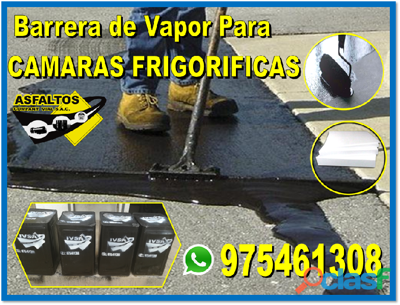 Venta de barrera de vapor   pegamento asfaltico informes 975461308