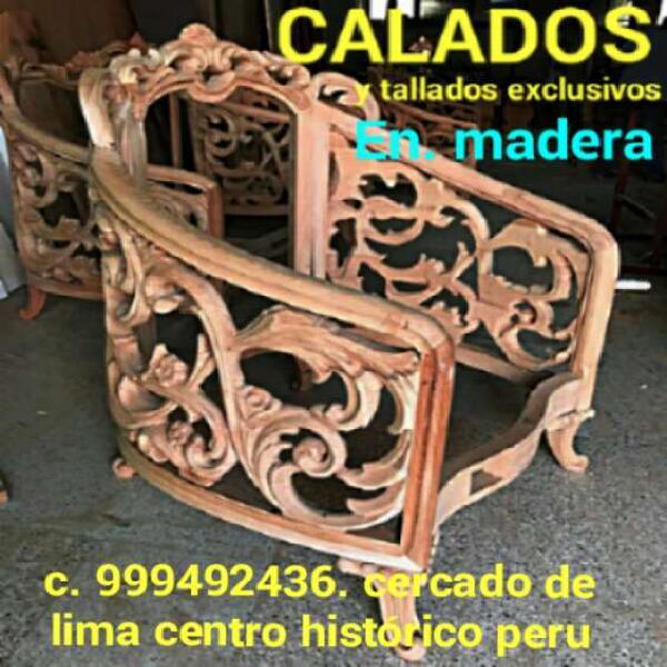 Calados y tallados en madera para muebles lima peru en lima