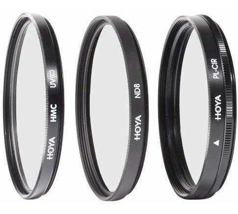 Hoya 40,5mm kit de filtros digital con 3filtros & pouch