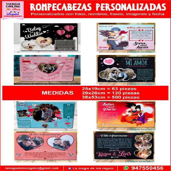 Rompecabezas personalizados en Chiclayo