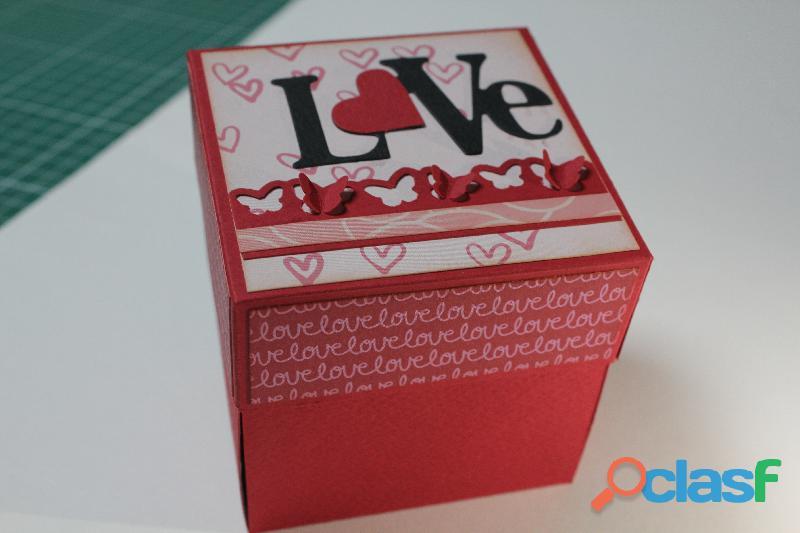 Cajitas de regalo por san valentin scrapbook
