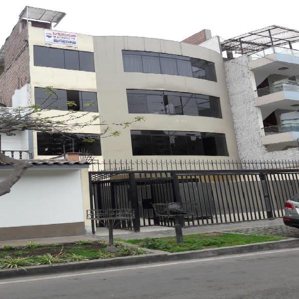 Alquiler, jr las orquideaz fte a pq 3dorm 2baños 2do. piso.