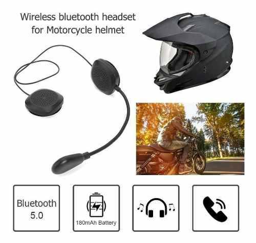 Hand free bt 5.0 + edr auricular inalámbrico caso moto