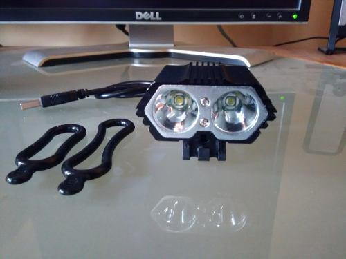 Luces led bicicleta frontal y posterior recargable