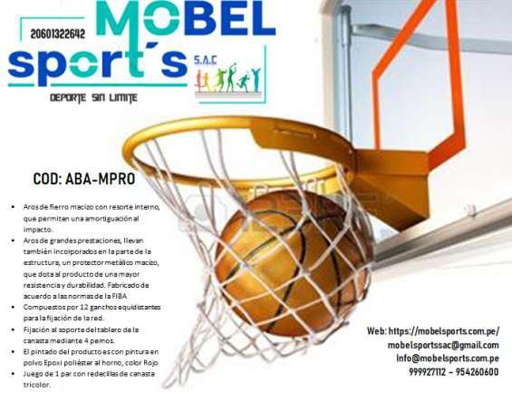 Aros para basquet en Lima