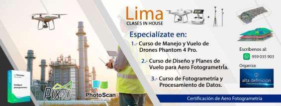 Cursos de fotogrametria con drones phantom 4 pro en lima