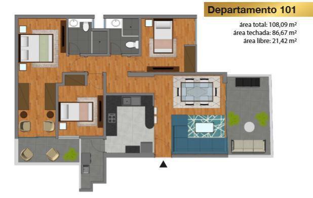 Venta de departamento en magdalena del mar (108.09 m²)