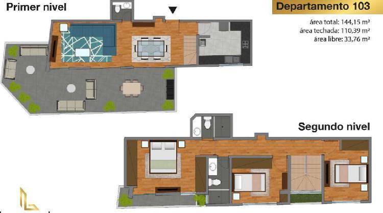 Venta de departamento en magdalena del mar (144.15 m²)