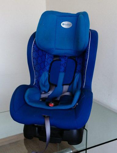Asiento de carro para bebes e-baby azul usado