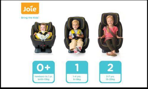 Asiento jolie para auto de niños de 0 a 7 años