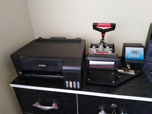 Combo impresora epson l1110 + sublimadora para tazas