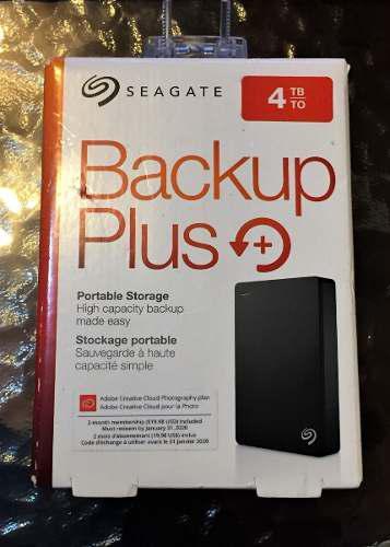 Disco duro externo portátil seagate backup plus 4tb 2.5