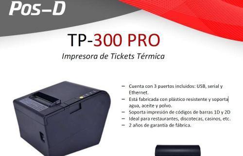 Impresora termica pos d tp300 pro usb / serial / red