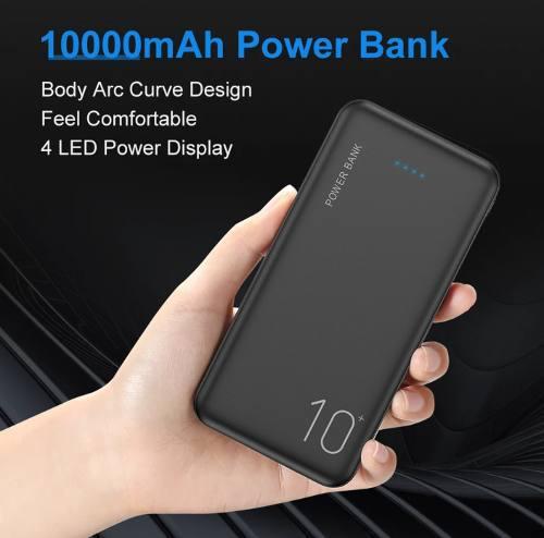 Powerbank cargador portatil de 10 000 mah para celulares y
