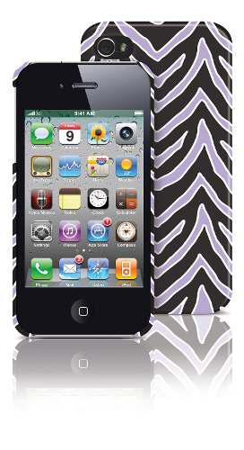 Carcasa iphone 4/4s pc lilac zebra