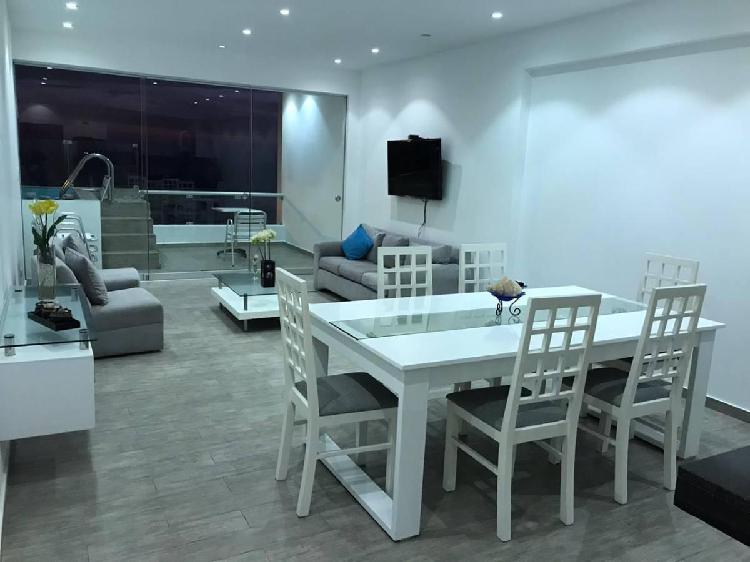 Departamento 165 m², 4 dorm.. amueblado. con terraza y