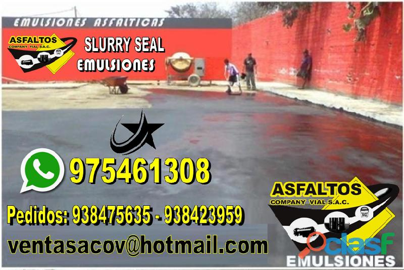 Venta y servicio de slurry seal llamanos 975461308