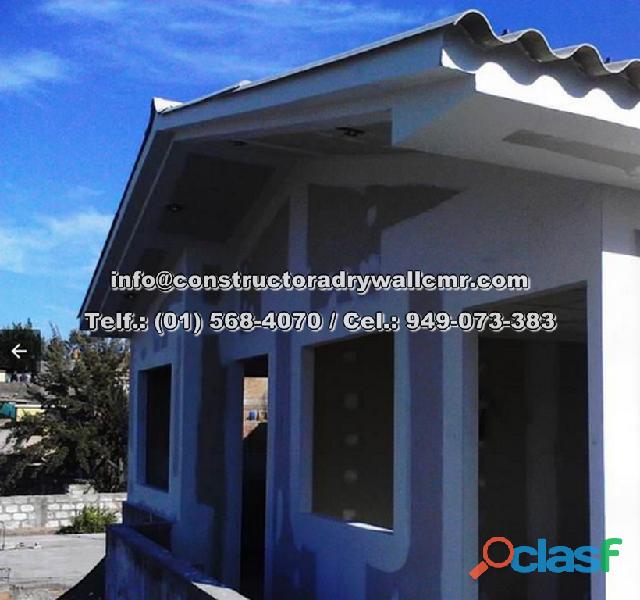 Expertos en ampliacion y remodelacion en departamentos en sistema drywall lleve en mano 949073383