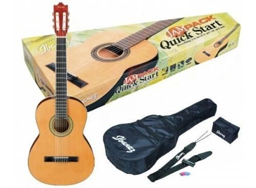 Guitarra Acustica Ibanez Ga3 Am Pack, Con Afinador Y Funda