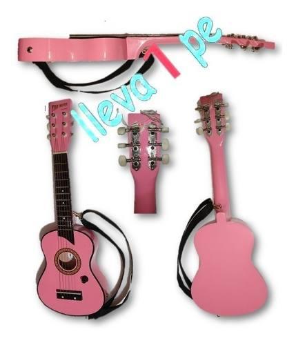 Guitarra Rosada Para Niñas - Guitarra Electroacustica