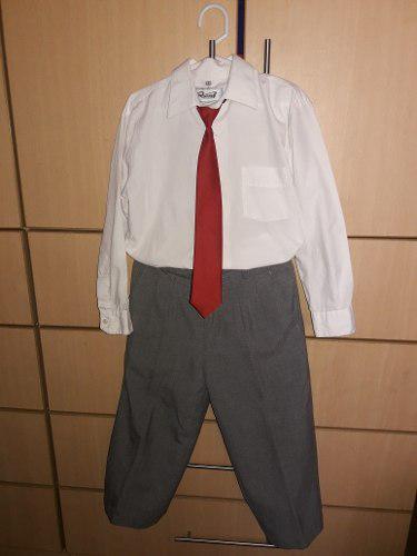 Terno niño 3 años t8 usado 3 piezas camisa corbata