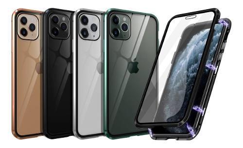 Case iphone 11 / pro / max de vidrio 360° y bumper