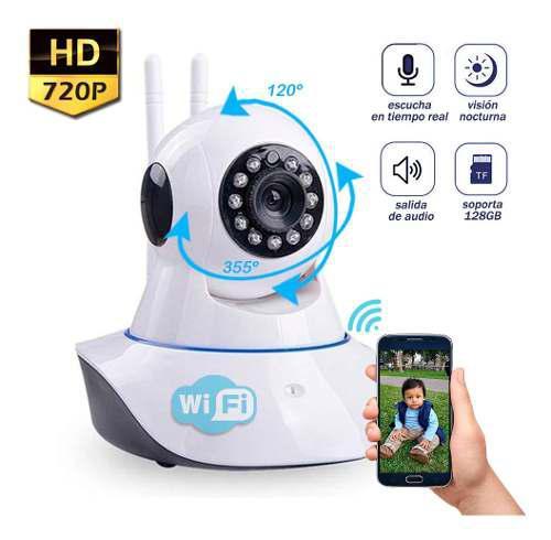 Cámara robótica hd wifi ip visión nocturna 128gb p2p
