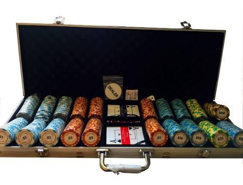 Juego de fichas de poker montecarlo 500 piezas de cer