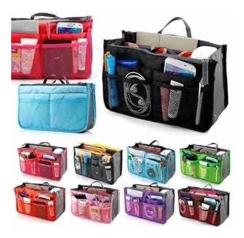 Organizador de cartera con cierre para viaje colores varios