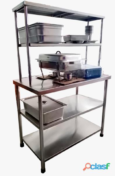 Mesa de 5 niveles en acero