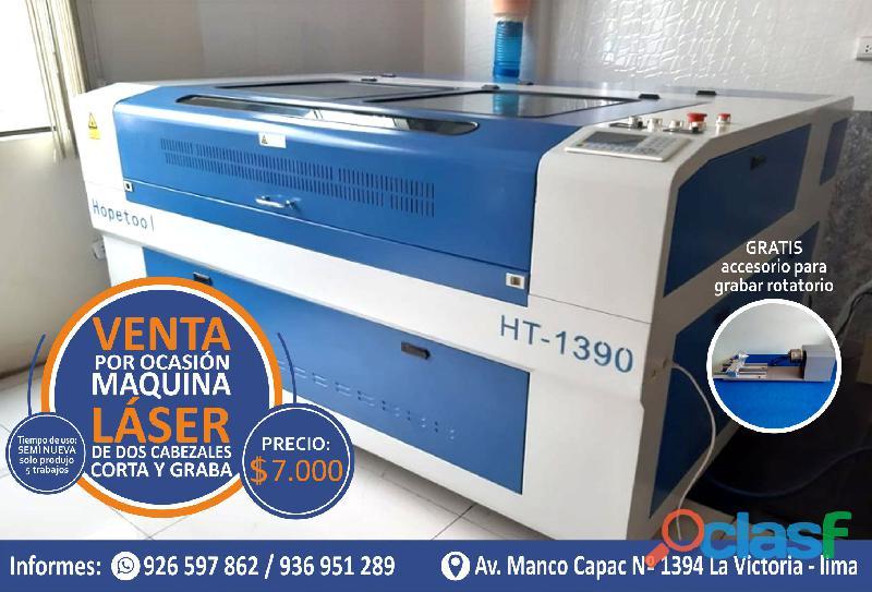 Maquina Laser Graba Y Corta De 2 Cabezales Lima Peru