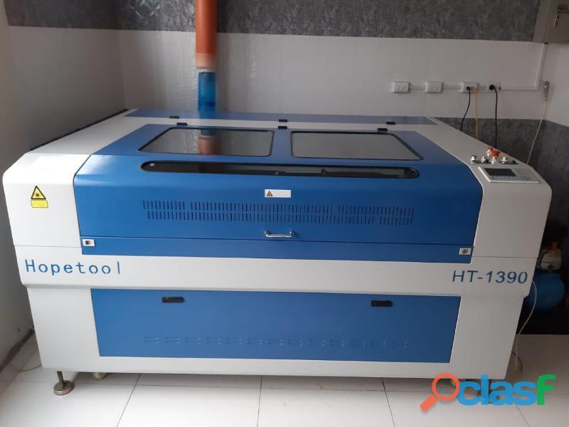 Maquina laser graba y corta de 2 cabezales