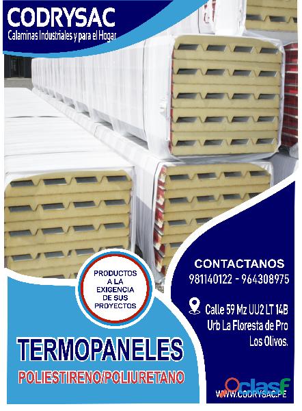techos y planchas de poliuretano