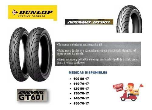 Llanta dunlop gt601 130-70-17 / delivery gratuito lima metr