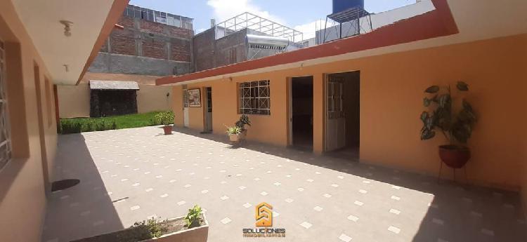 Soluciones inmobiliaria alquila casa con mini dpto de 450