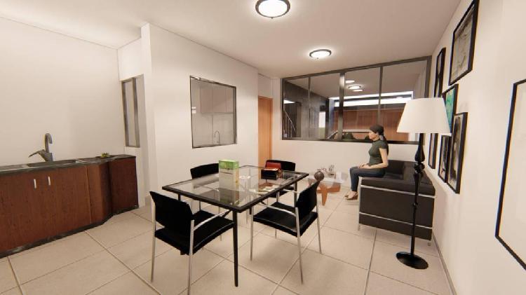 Venta departamento en segundo piso de 2 habitaciones de 79