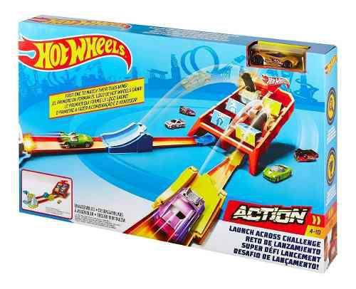 Hot wheels action, vueltas y choques, pista, original