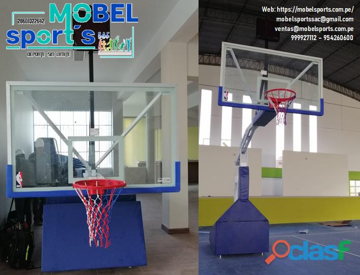 Tablero y castillos de basquet