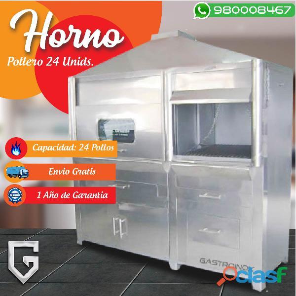 HORNO POLLERO DE ACERO INOXIDABLE