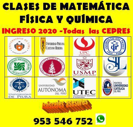 Matemática, física y química docente preuniversitario,