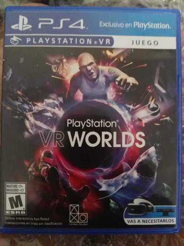 Juego De Ps4 Vr Worlds (juego D Realidad Virtual) Semi Nuevo