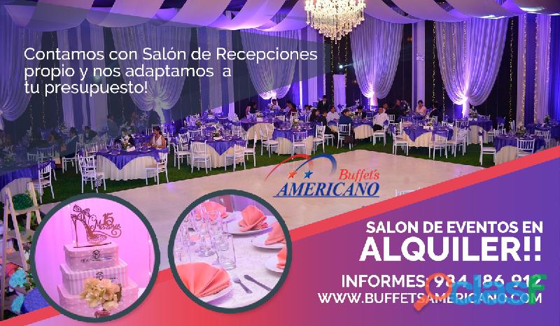 Buffets americano – alquiler de salón de recepciones