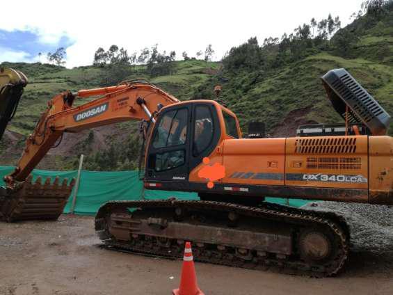 Excavadora doosan dx340lca año 2016 en lima