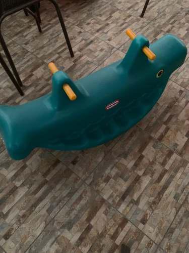 Little tikes - balancin ballena usado, como nuevo, excelente