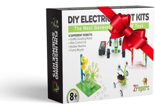 Robot para niños (stem) kit de motor electrico (4 en 1)