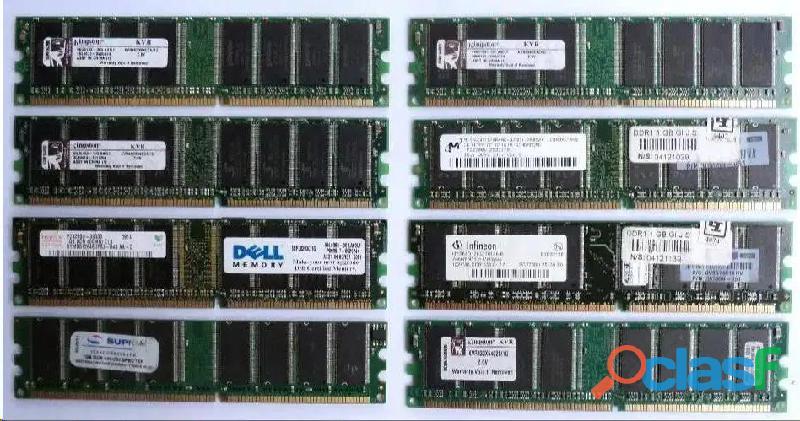 Memorias ddr1 ddr 1gb 1 giga bus 400 pc3200 como nuevas varias marcas
