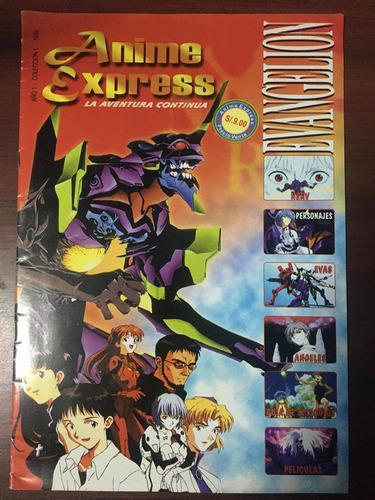 Revista anime express,manga express especial evangelion 1999